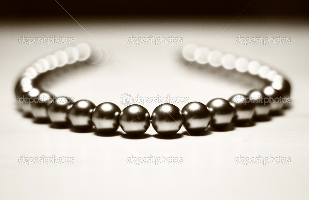 Beautiful mtyall beads for women on white background  Stock Photo #2527502