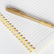 Royalty-Free Stock Photo: NOTEBOOK AND PEN