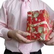 Gift christmas red — Stock Photo