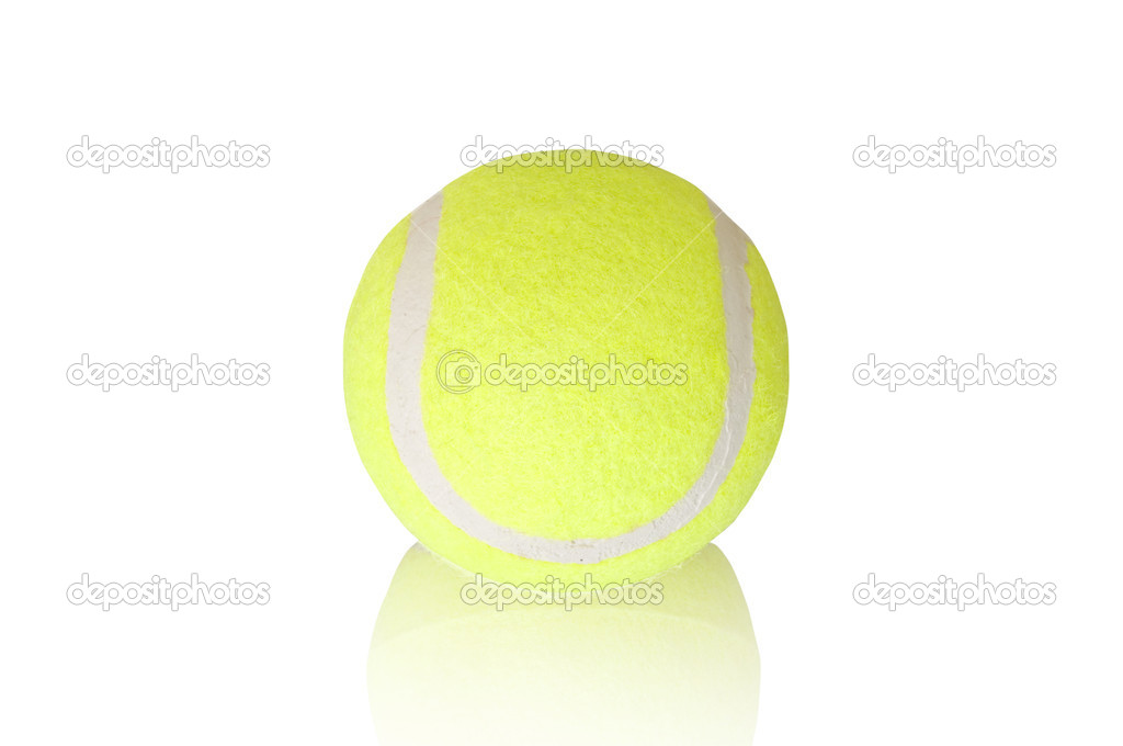 Tennis ball on the white background — Stock Photo #2076052