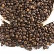Coffee beans in bag — Stock Photo #2453941