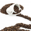 Royalty-Free Stock Photo: Coffee beans with a cup