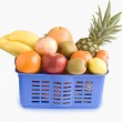 Basket of tropical fruits — Stock Photo #2478235