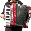 Cutout with womplaying accordion on — Stockfoto #1283930