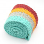 Multi-coloured crochet-work — Stock Photo