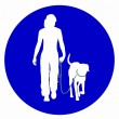 Stock Photo: Traffic sign for with dogs