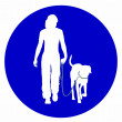 Traffic sign for with dogs — Stock Photo