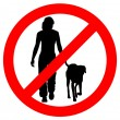 Traffic sign for walking with dogs — Stock Photo
