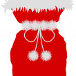 Stock Photo: Red St Nicholas bag on white background