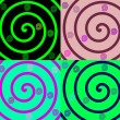Royalty-Free Stock Photo: Details of colored spirals on colorful b