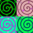 Details of colored spirals on colorful b — Stock Photo