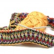 Stock Photo: Multi coloured knitting