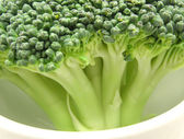 Broccoli in a little bowl of chinaware — Stock Photo
