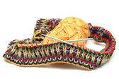 Multi coloured knitting — Stock Photo