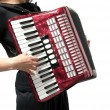 Cutout with womplaying accordion on — Stock Photo #1313690