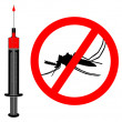 Immunization against malaria as illustr — Stock Photo