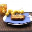 Stock Photo: Handmade datecake stylish arranged