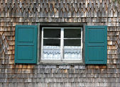 Window of an old bavarian house — Stock Photo