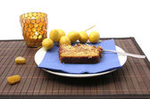 Handmade datecake stylish arranged — Stockfoto