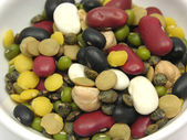 Mixed and colourful legumes — Stock Photo