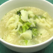 Soup with cauliflower and broccoli — Stock Photo #1833567