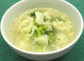 Soup with cauliflower and broccoli — Stock Photo