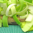Royalty-Free Stock Photo: SLiced green leek