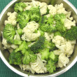 Cauliflower and broccoli - Stock Photo