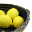 Four yellow citrus fruits — Stock Photo