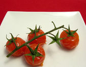 Steamed vine tomatoes — Stock Photo