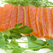 Stock Photo: Salmon with parsley and fennel