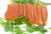 Salmon with parsley and fennel — Stock Photo