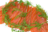 Salmon with fennel — Stock Photo