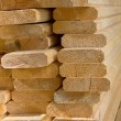 Stock Photo: Sawed wooden boards laid in heap.