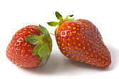 Two ripe and appetizing strawberries. — Stock Photo