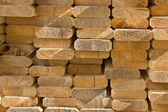 Sawed wooden boards laid in a heap — Stock Photo