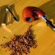 Stock Photo: Tobacco pipe