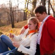 Couple siting - Stock Photo
