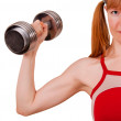 Stock Photo: Women work out biceps