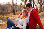 Couple siting — Stock Photo