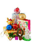Heap of christmas decoratins — Stock Photo