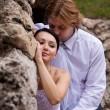 omarmen newlywed — Stockfoto