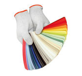 Glove and pantone — Stock Photo
