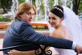 Newlyweds — Stockfoto
