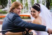 Recém-casados — Fotografia Stock