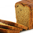 Close-up of Whole Wheat Bread Isolated — Stock Photo