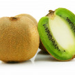Ripe Sliced Kiwi Isolated on White — Stock Photo