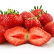 Stock Photo: Ripe Strawberries in Basket Isolated on