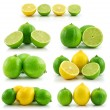 Royalty-Free Stock Photo: Collection of Ripe Lime and Lemon Isolat