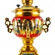 Old golden samovar - Stock Photo